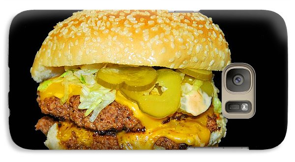 Galaxy Case featuring the photograph Cheeseburger by Cindy Manero