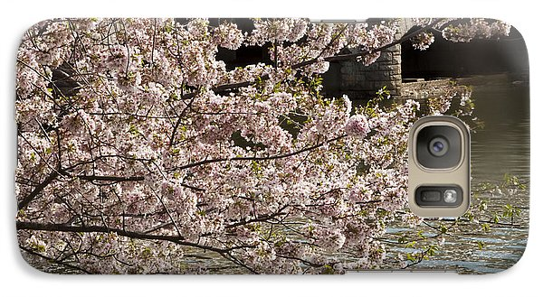 Galaxy Case featuring the photograph Cherry Blossom On Potomic by Darleen Stry