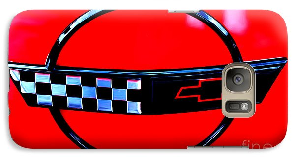 Galaxy Case featuring the digital art Chevrolet Corvette by Tony Cooper