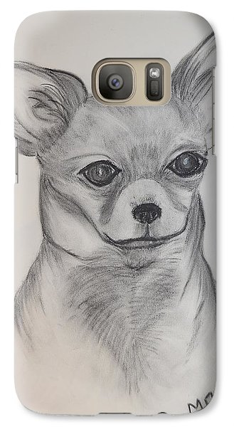 Galaxy Case featuring the drawing Chi Chi by Maria Urso