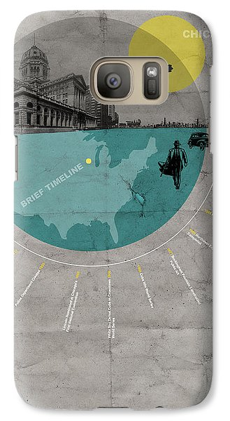 Chicago Galaxy S7 Case - Chicago Poster by Naxart Studio