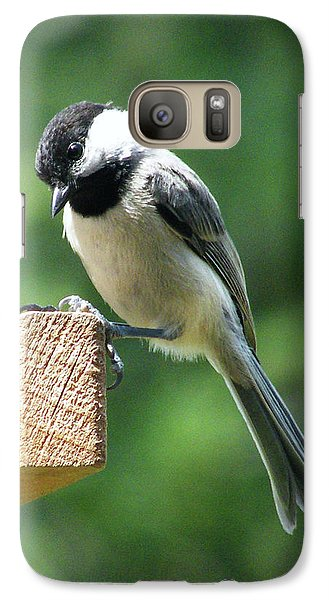 Galaxy Case featuring the photograph Chickadee by Lizi Beard-Ward