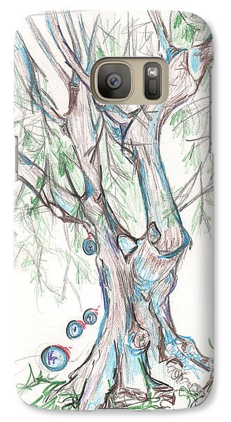 Galaxy Case featuring the drawing Chico Ca River Tree by Carol Rashawnna Williams