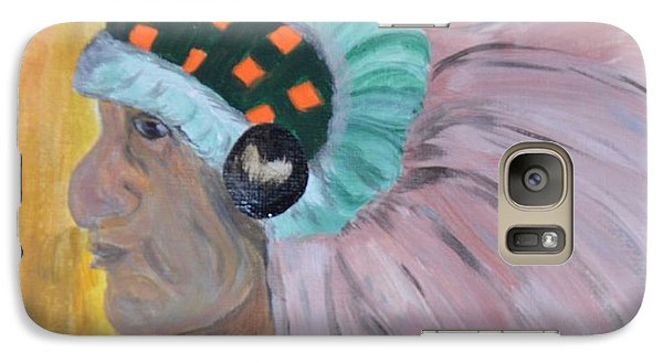 Galaxy Case featuring the painting Chief by Maria Urso