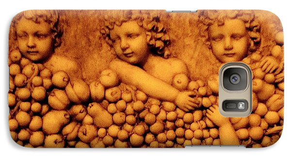 Galaxy Case featuring the photograph Children Among The Grapes by Annie Zeno