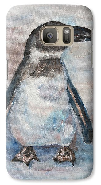 Galaxy Case featuring the painting Chilly Little Penguin by Brenda Thour