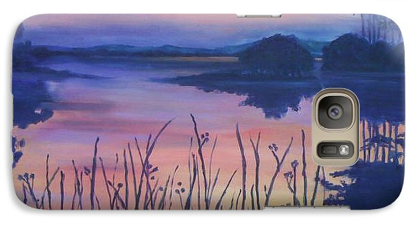 Galaxy Case featuring the painting Chincoteaque Island Sunset by Julie Brugh Riffey
