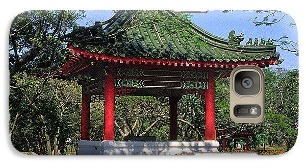 Galaxy Case featuring the photograph Chinese Gardens Garden Pavilion 21b by Gerry Gantt