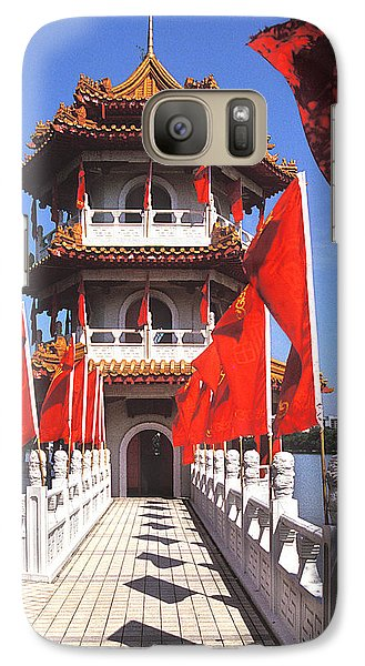 Galaxy Case featuring the photograph Chinese Gardens  North Pagoda 19c by Gerry Gantt