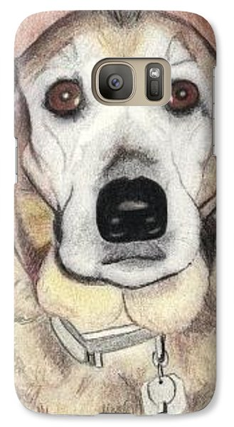 Galaxy Case featuring the drawing Chloe by Ana Tirolese