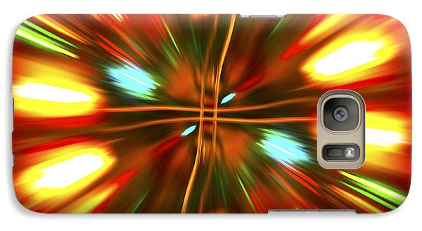 Galaxy Case featuring the photograph Christmas Light Abstract by Steve Purnell