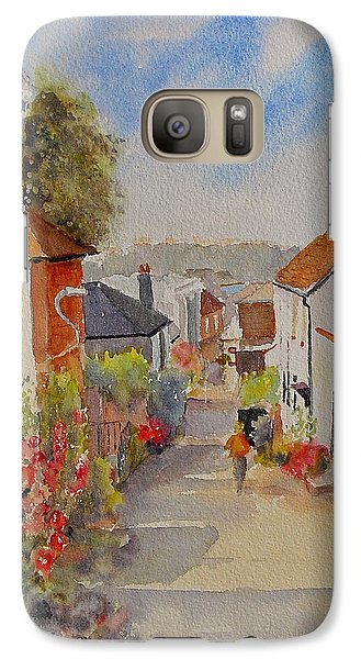 Galaxy Case featuring the painting Church Hill - Hythe- Uk by Beatrice Cloake