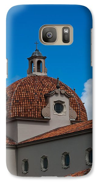 Galaxy Case featuring the photograph Church Of The Little Flower Dome And Cross by Ed Gleichman