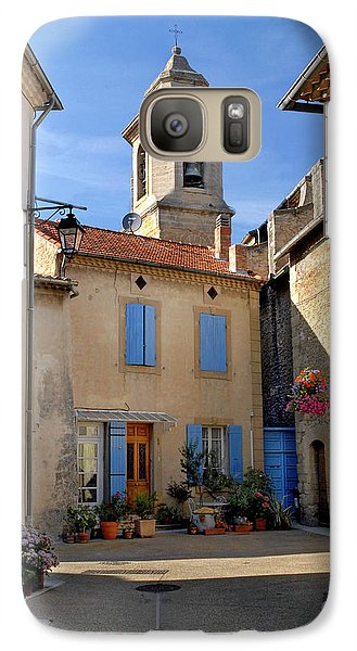 Galaxy Case featuring the photograph Church Steeple In Provence by Dave Mills