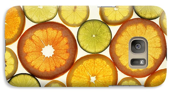 Citrus Slices Galaxy Case by Photo Researchers