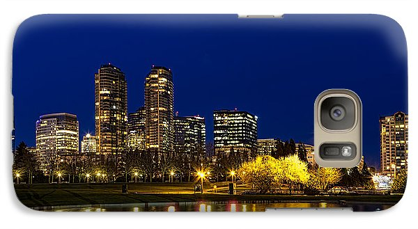 Galaxy Case featuring the photograph City Night Lights by Ken Stanback