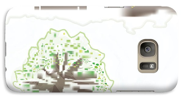 Galaxy Case featuring the digital art City Tree by Kevin McLaughlin