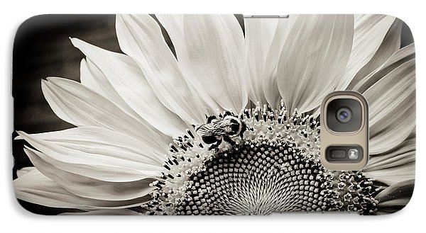 Galaxy Case featuring the photograph Classic Sunflower by Sara Frank