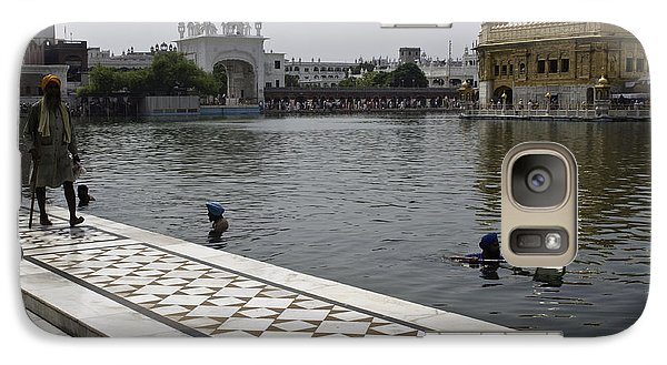 Galaxy Case featuring the photograph Clearing The Sarovar Inside The Golden Temple Resorvoir by Ashish Agarwal