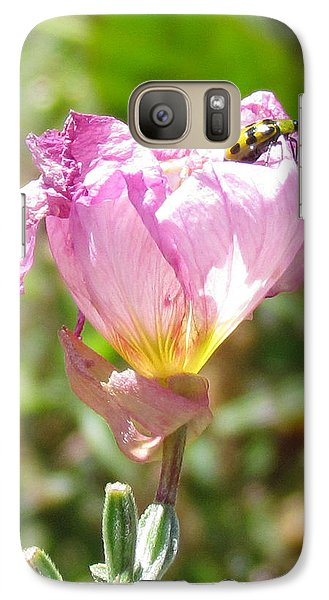 Galaxy Case featuring the photograph Climbing The Mexican Evening Primrose by Bonnie Muir