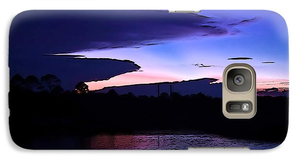 Galaxy Case featuring the photograph Clouded Sunset Over The Tomoka by DigiArt Diaries by Vicky B Fuller