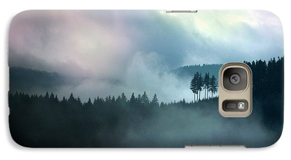 Galaxy Case featuring the photograph Clouds In The Mountains X Genesis by Emanuel Tanjala
