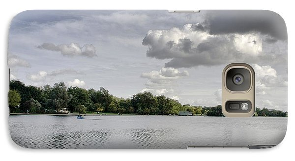 Galaxy Case featuring the photograph Cloudy Hyde Park by Maj Seda