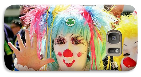 Galaxy Case featuring the photograph Cloverleaf Clown by Alice Gipson