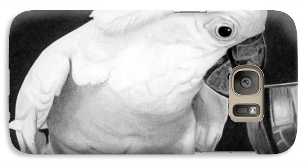 Galaxy Case featuring the drawing Cockatoo by Ana Tirolese