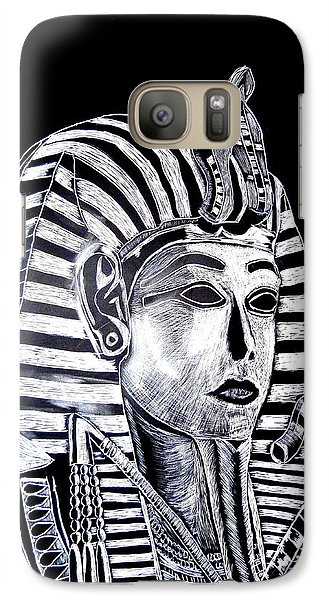 Galaxy Case featuring the drawing Coffin Of The King by Lisa Brandel