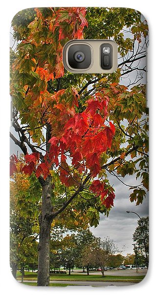 Galaxy Case featuring the photograph Cold Autumn Breeze  by Michael Frank Jr