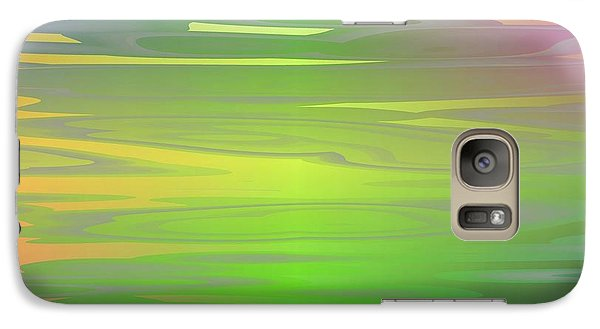 Galaxy Case featuring the digital art Color Play by Jeff Iverson