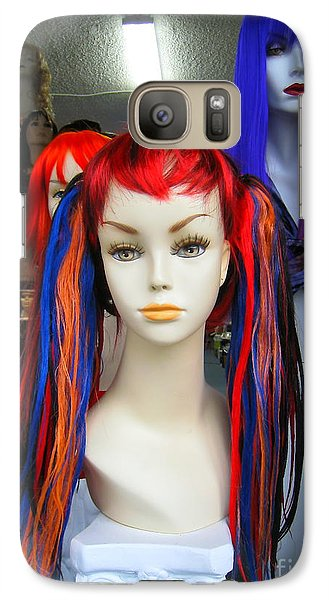 Galaxy Case featuring the photograph Colored Hairdo by John King