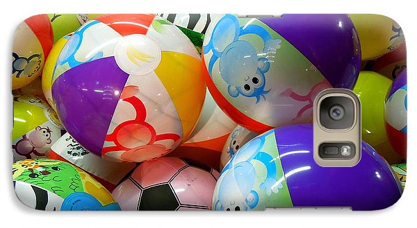 Galaxy Case featuring the photograph Colorful Balls by Renee Trenholm
