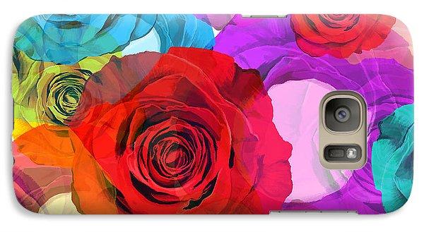 Rose Galaxy S7 Case - Colorful Floral Design  by Setsiri Silapasuwanchai