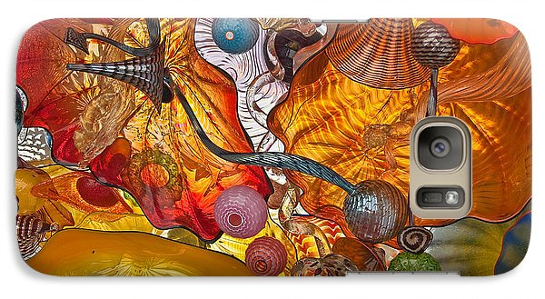 Galaxy Case featuring the photograph Colorful Glass Still Life by Valerie Garner
