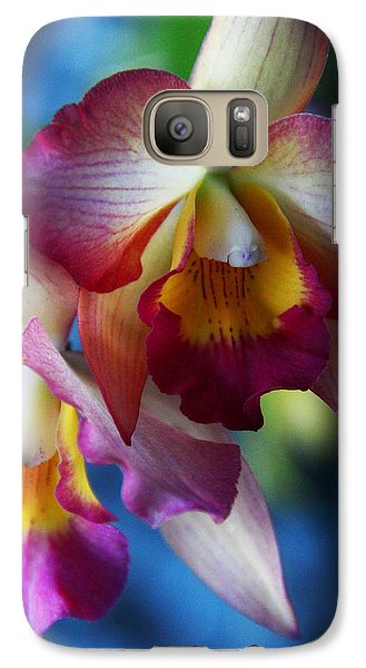 Galaxy Case featuring the photograph Colorful Orchids by Kerri Ligatich