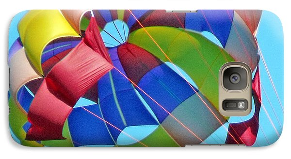 Galaxy Case featuring the photograph Colorful Parachute by Val Miller