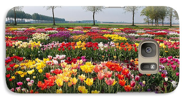 Galaxy Case featuring the photograph Colorful Tulips by Hans Engbers