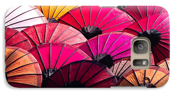 Galaxy Case featuring the photograph Colorful Umbrella by Luciano Mortula
