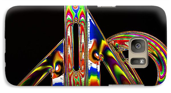 Galaxy Case featuring the photograph Colourful Geometry by Steve Purnell