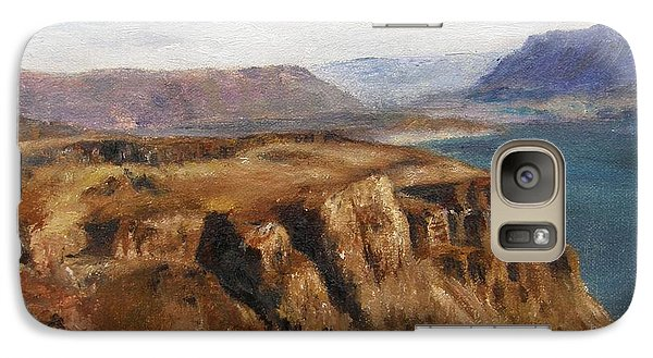 Galaxy Case featuring the painting Columbia River Gorge I by Lori Brackett