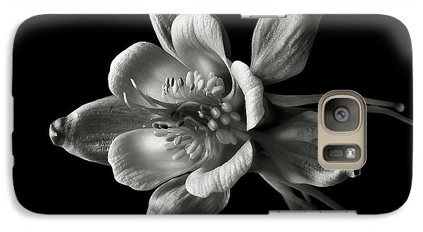 Galaxy Case featuring the photograph Columbine In Black And White by Endre Balogh