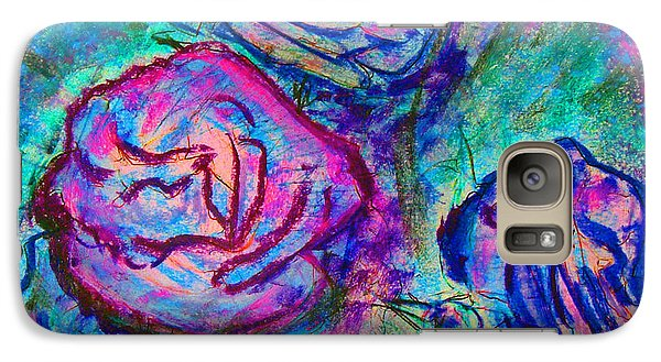 Galaxy Case featuring the painting Coming Up Roses by Richard James Digance