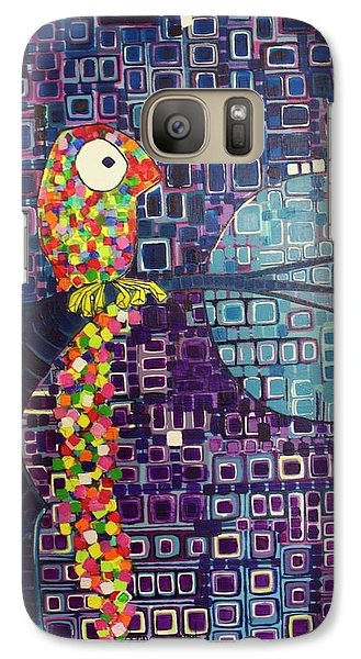 Galaxy Case featuring the painting Confetti Bird by Donna Howard