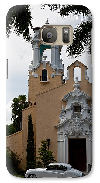 Galaxy Case featuring the photograph Congregational Church Front Door by Ed Gleichman