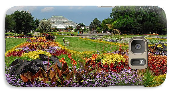 Galaxy Case featuring the photograph Conservatory Gardens by Lynn Bauer