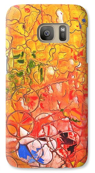 Galaxy Case featuring the painting Cookie Cutter by Mary Kay Holladay