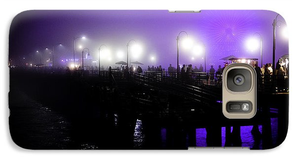 Galaxy Case featuring the photograph Cool Night At Santa Monica Pier by Clayton Bruster