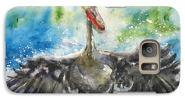 Galaxy Case featuring the painting Cooling Off by Anna Ruzsan